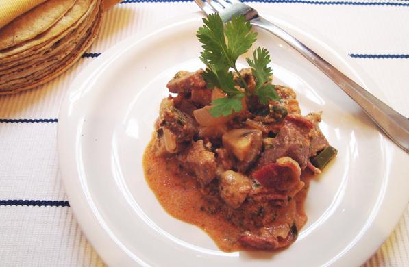 Receta para cocinar sopas y cremas PUNTAS DE RES AL ALBAIL