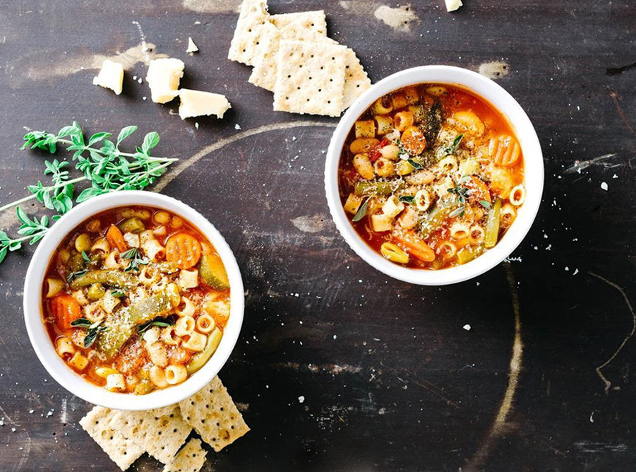 Slow Cooker Spring Minestrone Soup | Chef & Shower Recipes | Crockpot Dinner