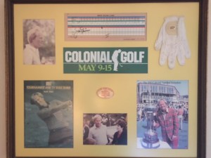 The beautiful collage with the Golden Bear's glove and other memorabilia!