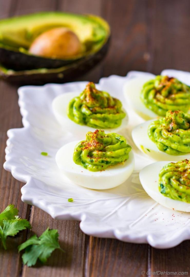 Chef De Home | Healthy Deviled Eggs with Avocado