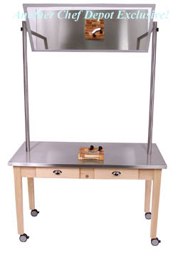 john boos kitchen island unfinished cart butcher blocks, portable chef demonstration ...