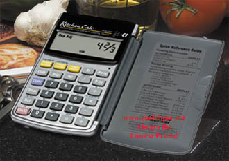 kitchen calculator prep station recipe conversion digital large easy to use counter top pocket