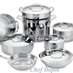 Calphalon Kitchen Outlet Stove With Griddle Pot & Pan Sets, Cookware, Stock Pots, Professional ...