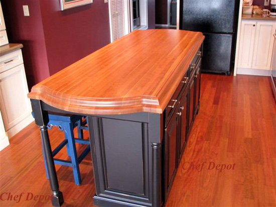 kitchen island tops handmade islands butcher block new counters table ogee edge lyptus wood top