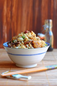 Combo Fried Rice is definitely something you need to have in your repertoire, not only because it's fast but it's a great way to use leftovers without hearing people complain about having leftovers.