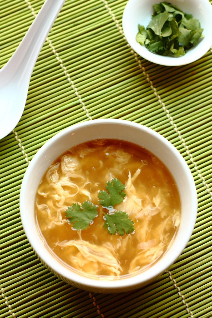 Egg Drop Soup; incredibly fast and easy. Store bought chicken broth is upgraded with ginger and garlic to make this easy and healthy Asian classic.