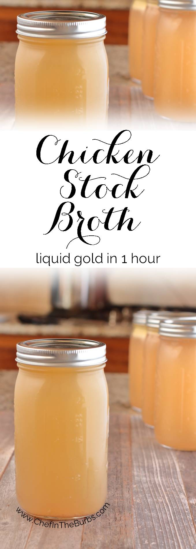 Chicken Stock Broth Recipe - Since it's the middle of winter and we're all making soup, stew and other delicious braisey/roasty/simmery things I challenge you to make your own chicken broth even if you only do it once. It seriously will take you back. Back to when chicken broth tasted like…wait for it…chicken.