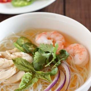 Chicken and Shrimp Pho ~ Vietnamese Chicken Noodle Soup