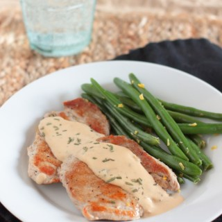 Pork with Rosemary and Creamy Dijon Sauce