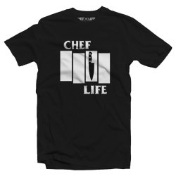 chef life black flag tshirt