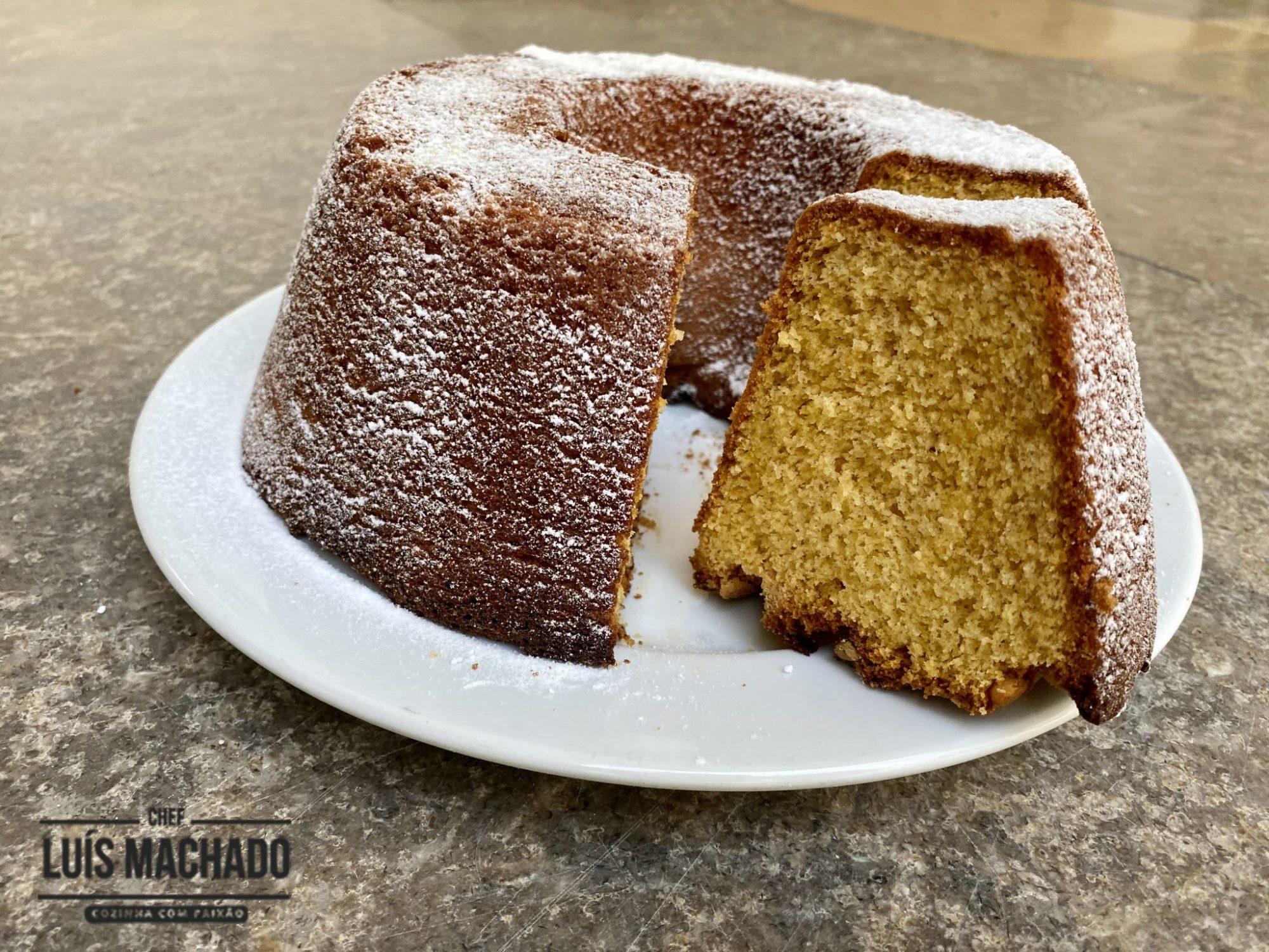 bolo de açúcar amarelo