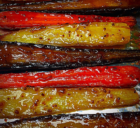 Roasted Homegrown Carrots