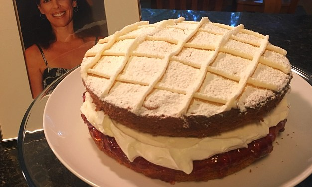 Happy birthday Alison – Victoria sandwich cake