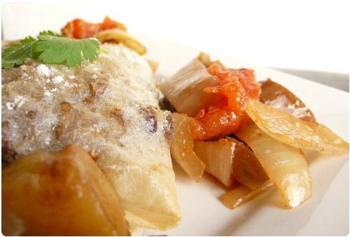 Pastilla dagneau et légumes confits au miel et balsamique