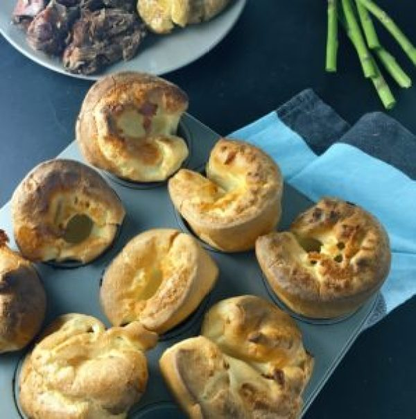 Giant Yorkshire Puddings - these are the perfect partner to a roast dinner, and a really simple to make.