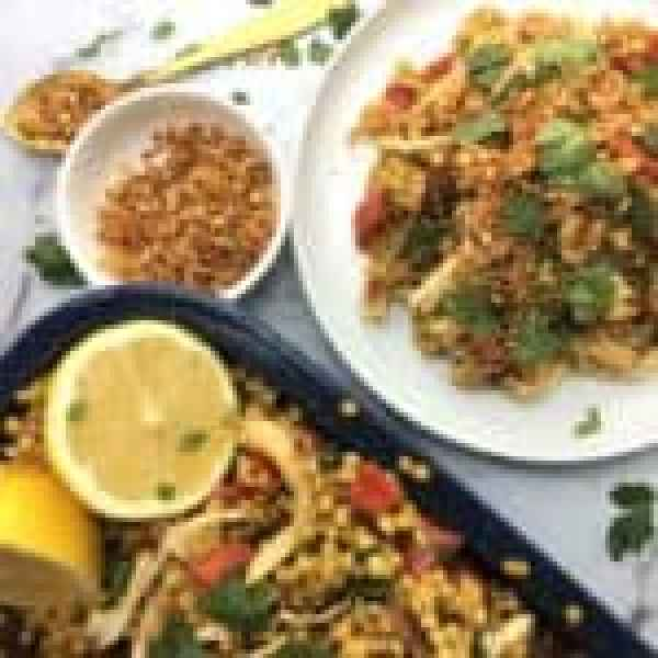 Spanish chicken & chorizo with giant couscous - easy tasty spanish flavours