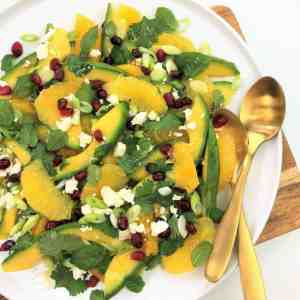Orange avocado salad with herbs citrus salad how to segment an orange