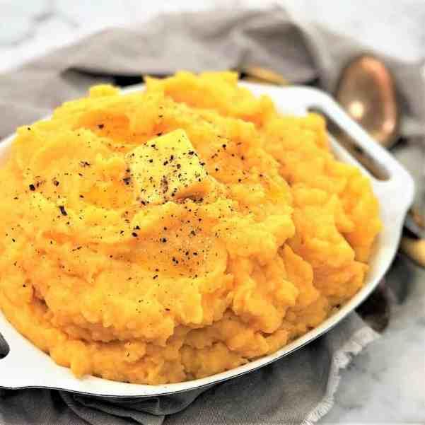 potato and pumpkin ricotta mash - sweet pumpkin cheese mashed potatoes