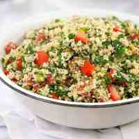 Tomato Parsley Salad Recipe - Quick Tabbouleh