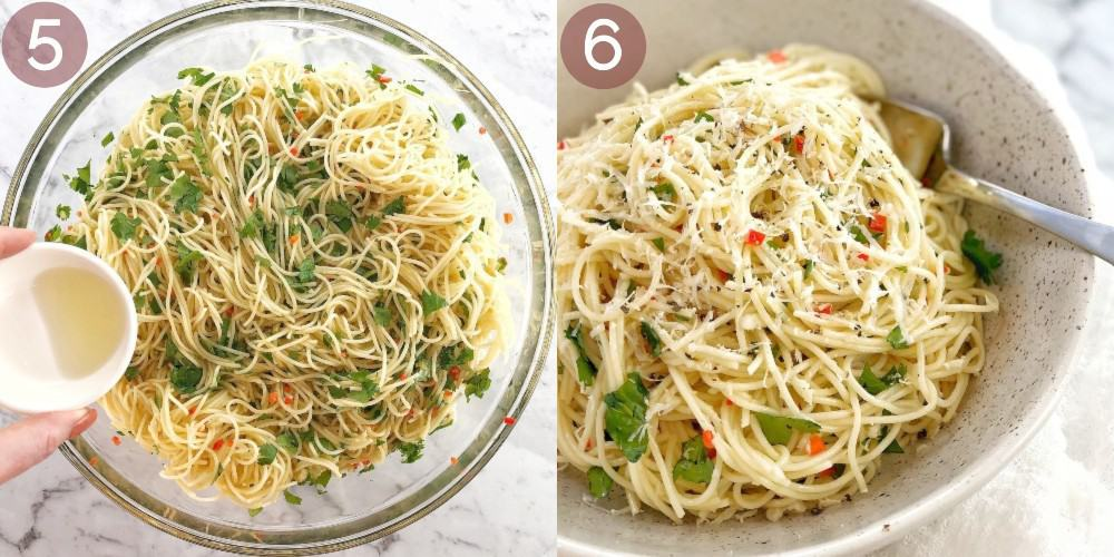 images showing how to make angel hair salad