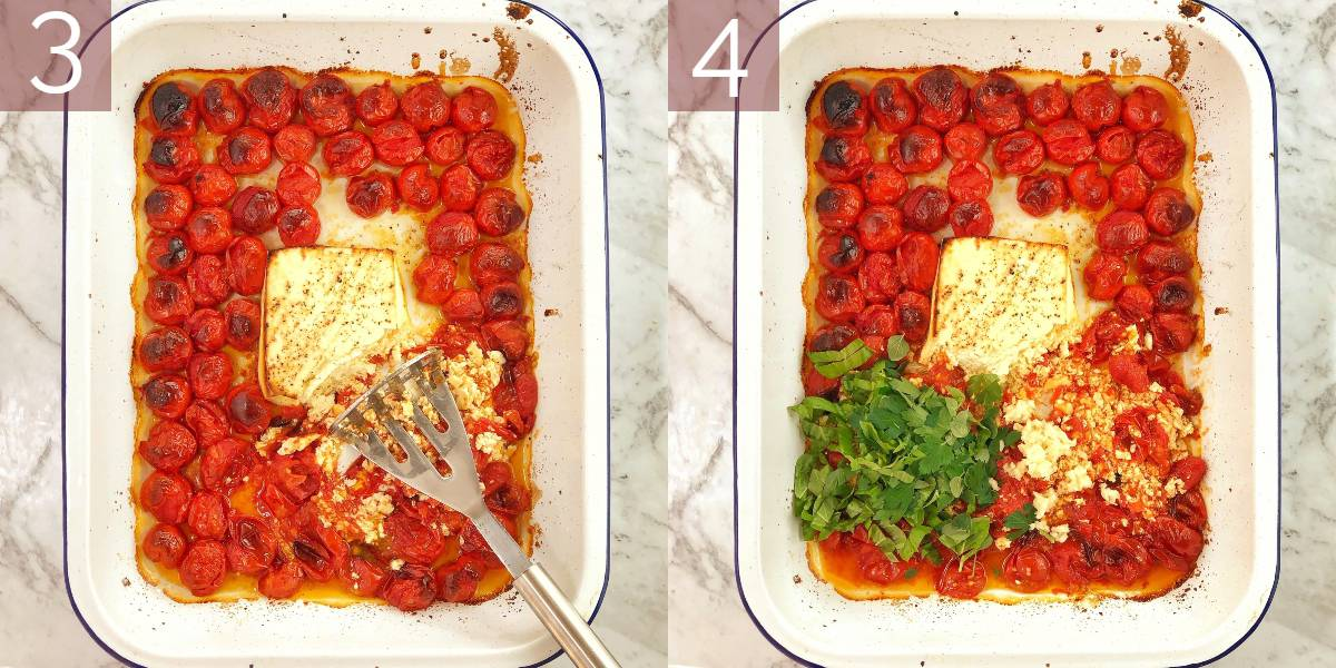 photos showing process of cooking the recipe