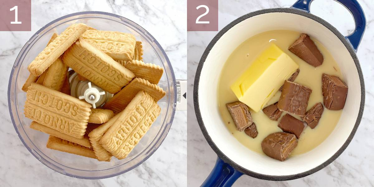 images showing process of cooking recipe