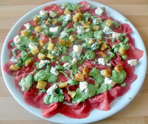 Carpaccio al Roquefort