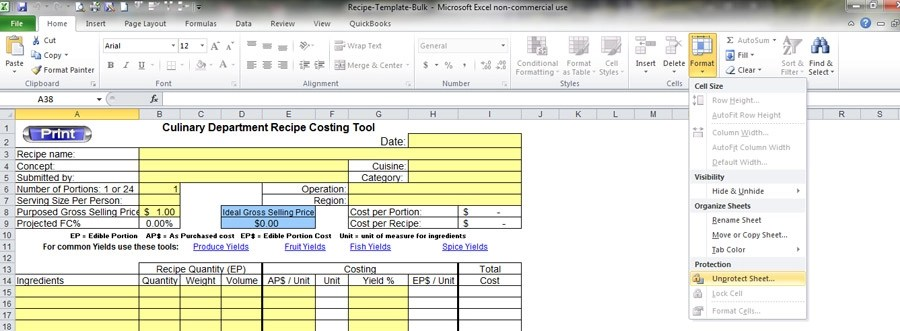 Sync Inventory And Recipes With Excel