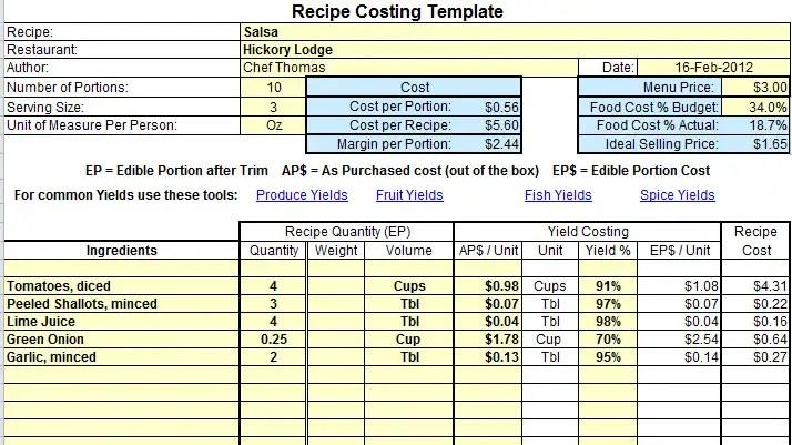 food cost sheets - Cypru.hamsaa.co