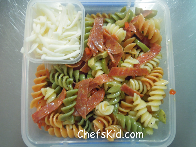Pizza Pasta Salad from ChefsKid.com