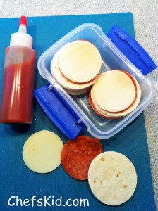 School lunch ideas: Pizza Stackers from ChefsKid.com