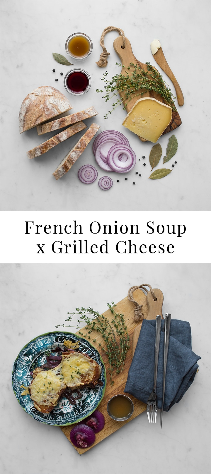 With all the robust flavours of a French Onion Soup, ourFrench Onion Grilled Cheese is made memorable by the addition of a broth-soaked slice of bread between the melted cheese, red wine caramelized onions and crispy top and bottom slices that instantly turns a one-dimensional grilled cheese into a three-dimensional GRILLED CHEESE!