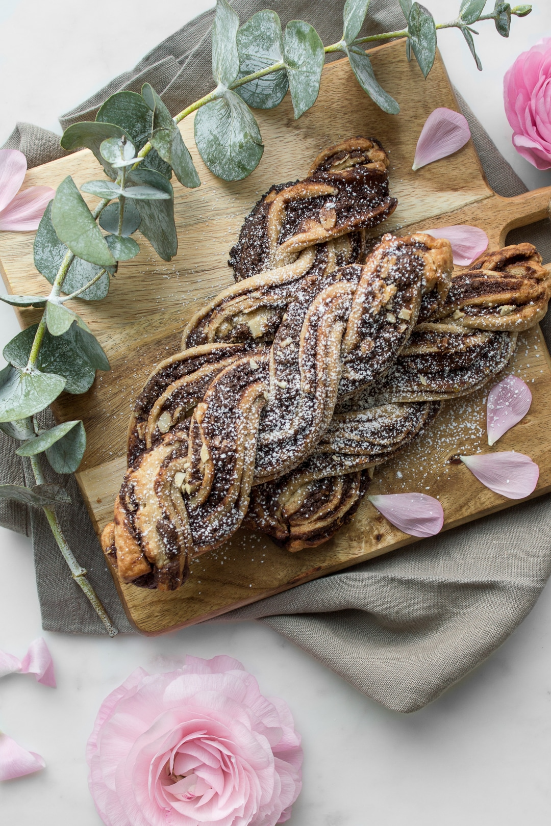 Close up photo of Chocolate Streusel Twists