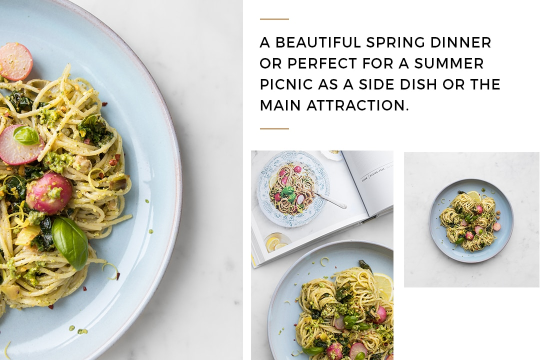 The Love and Lemons Cookbook spring onion pasta