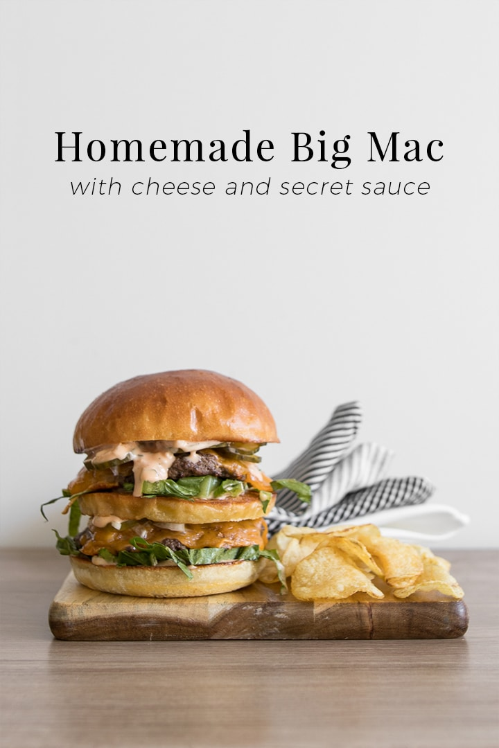 Real food fast big mac recipe with secret sauce chef - Fast good cuisine big mac ...