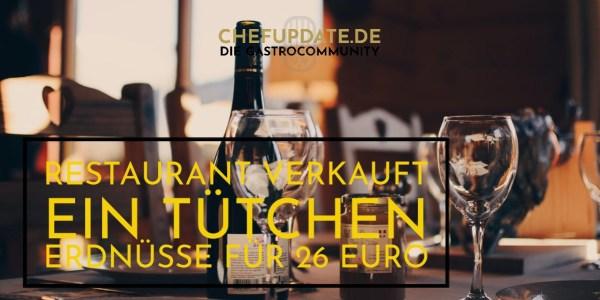 Restaurant verkauft ein Tütchen Erdnüsse für 26 Euro