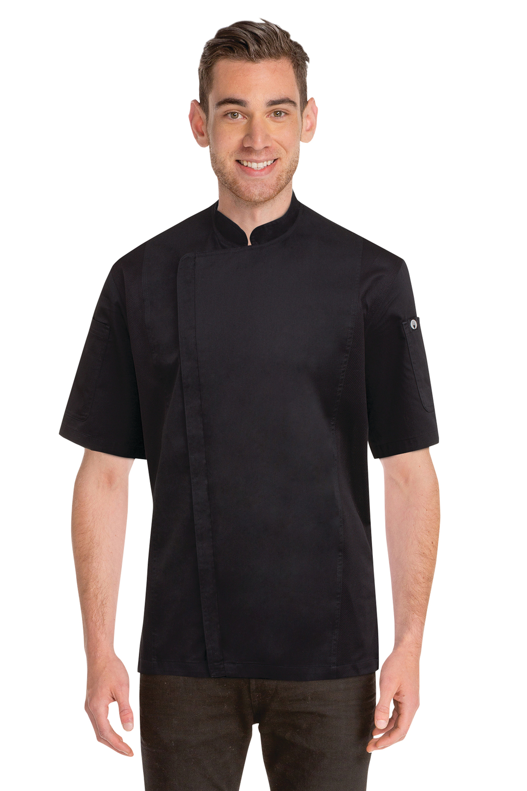 Chef Works Springfield Mens Black Zipper Chef Jacket