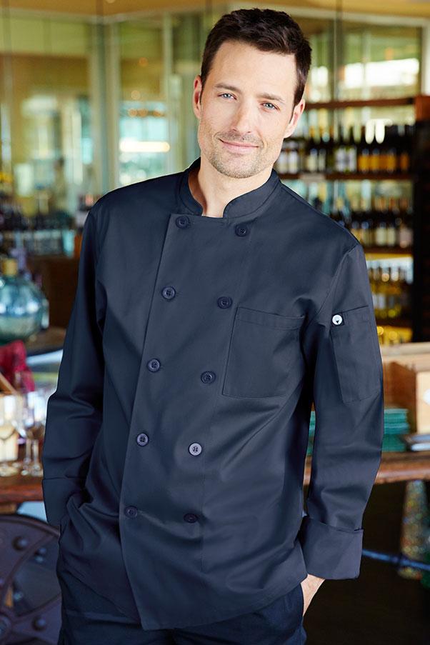 Torino Navy Blue Chef Coat  ChefWorkscom