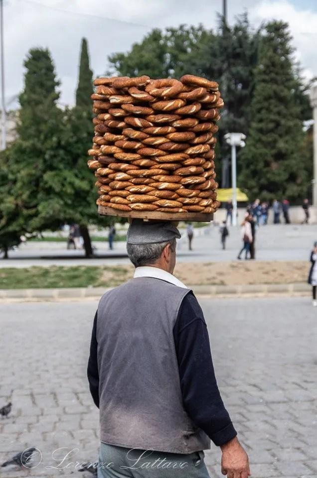 Simit ai mercati di istanbul