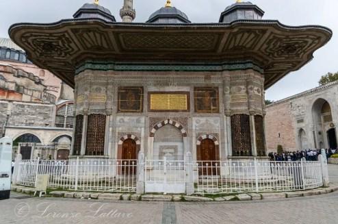 fontana di ahmet iii del palazzo di topkapi a istanbul