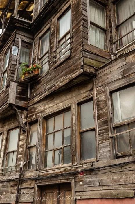 case ottomane in legno ad Istanbul