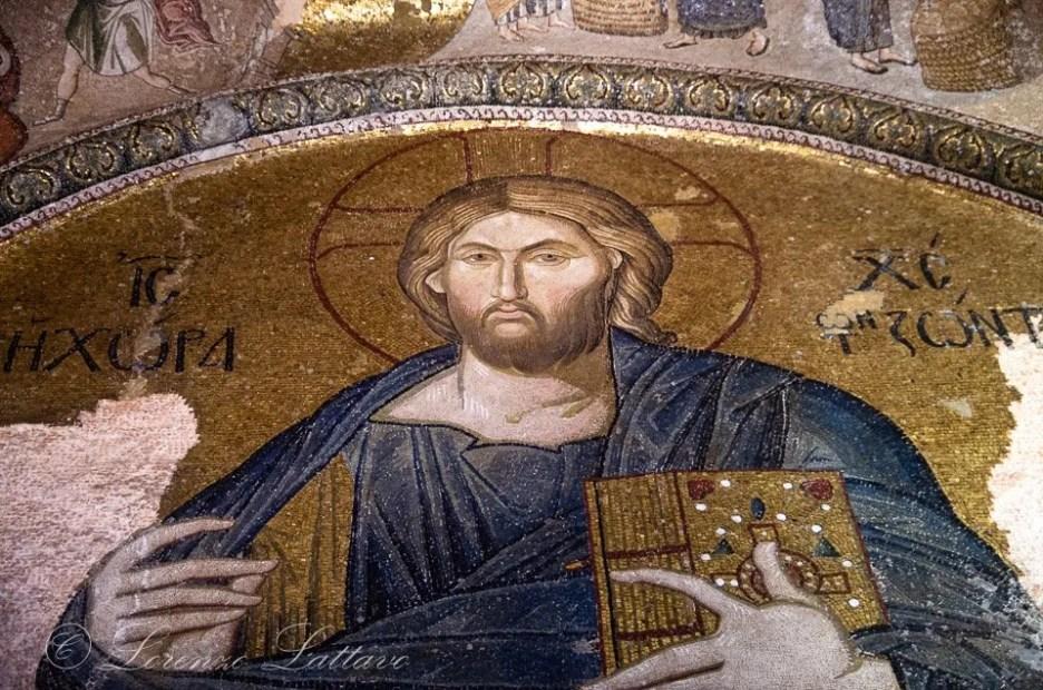 mosaico bizantino di cristo in san salvatore in chora a istanbul