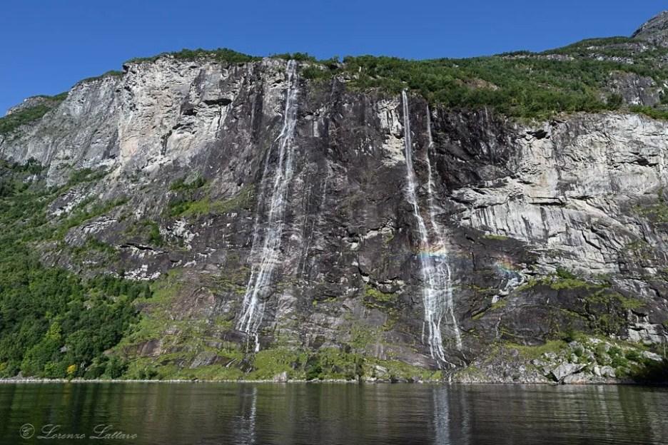 Cascata delle sette sorelle a Geirangerfjord
