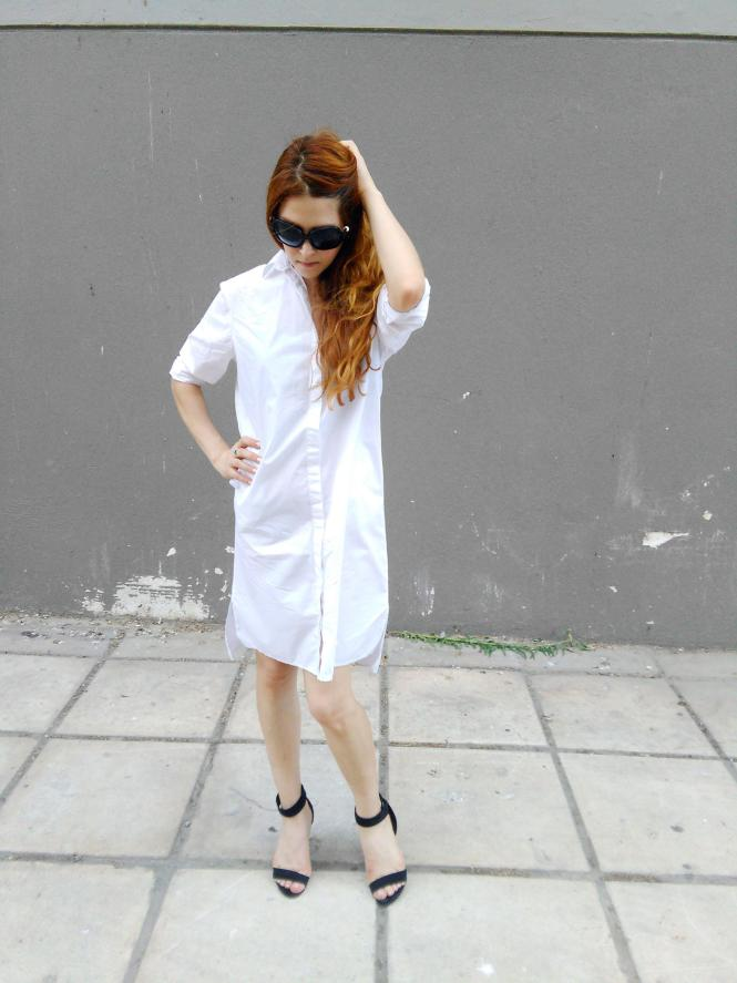 asos white shirt dress capsule wardrobe