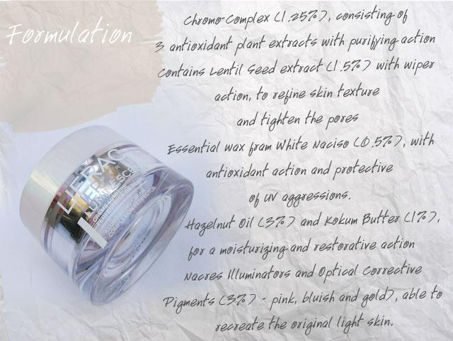 formulation of lierac cream
