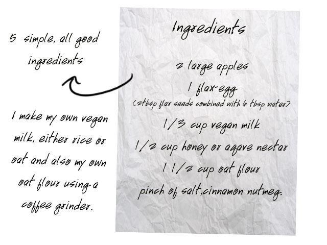 ingredients vegan apple pie simple easy recipe