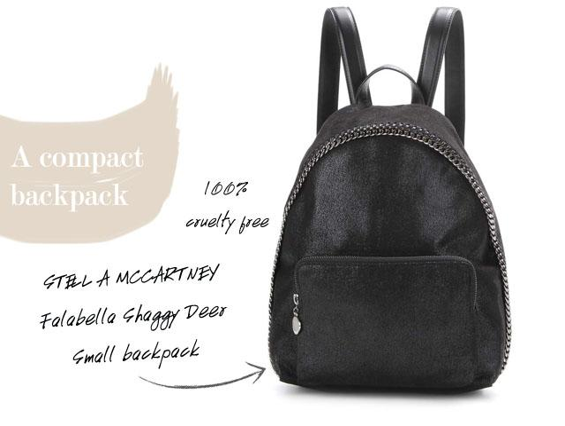 stella mccartney vegan backpack cruelty free bags