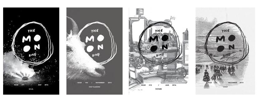 the moon zine collage magazine
