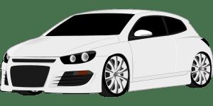 White two doors car