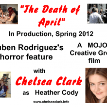 """Promo Postcards - Chelsea Clark in """"The Death of April"""""""